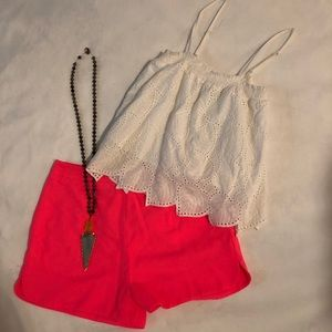 Lush High Waisted Pink Shorts